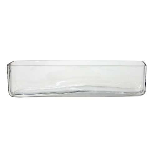 Koyal Wholesale 404354 6-Pack Rectangle Glass Vases, 16 By 4 By 4-Inch