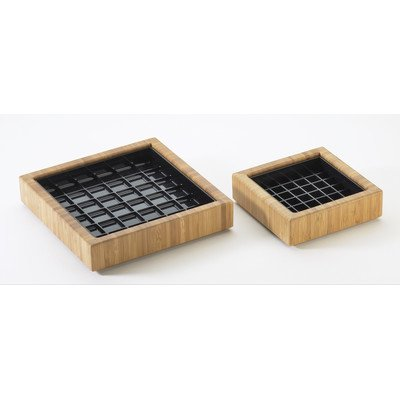 "Cal-Mil 330-4-60 Square Bamboo Drip Tray, 4""X4"""