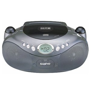 Sanyo MCD-MX440 Compact Stereo CD with AM/FM stereo MP3 PLAYBACK, LCD Display. AC/DC