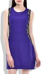 Addyvero Women's Sheath Blue Dress
