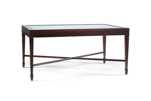 Cheap Cocktail Table w/ Glass Insert Top by Sherrill Occasional – CTH – Walnut (330-845) (330-845)