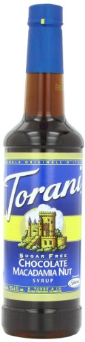 Torani Sugar Free Syrup, Chocolate Macadamia Nut, 25.4 Ounce (Pack Of 4)