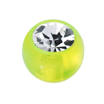 6mm Lime Green Gem Acrylic Replacement Ball