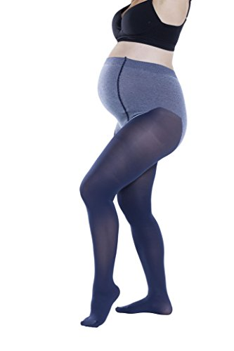Trasparenze Womens Maternity Pantyhose, Soft Cotton, Opaque 70 Denier (3 Large, Antracite)