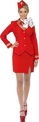smiffys-costume-da-hostess-incl-giacca-gonna-sciarpa-e-cappello-donna-taglia-s-colore-rosso