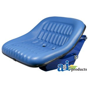 Ford New Holland Seat Assembly With Suspension Blue Vinyl Heavy Duty 1110 1310 2000 3000 4000 5000 7000