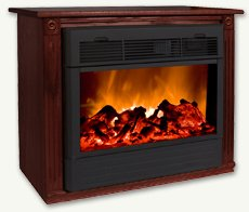 Heat Surge Fireplace with Amish Made Mantle Cherry