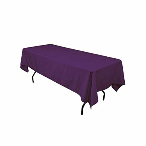 Rectangular polyester tablecloth 60x120 inches plum by for Table 60x120
