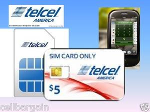 Telcel America wireless cell phone 4G sim cards new & not activated (Lot of 10)