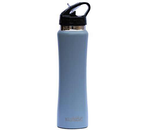 BlissActive Stainless Steel Insulated Water Bottle, Wide Mouth Double Wall with flip straw Sweat-proof Straw Cap Perfect for Office Gym Kids Outdoor events 17 oz and keeps ice cubes for over 20 hrs (Dog Water Purifier Dispenser compare prices)