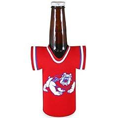 Fresno State Bulldogs FSU NCAA Bottle Jersey Can Koozie by Caseys