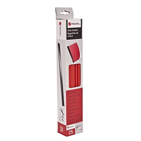 25 x Acco Red A4 Spine Slide Binders - 5mm