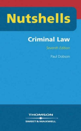 Criminal Law (Nutshells)