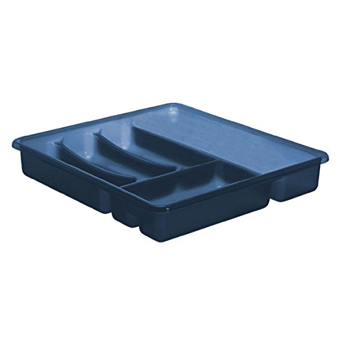 Rotho 1753106149 Portaposate a 6 scomparti in materiale plastico (PP), circa 39 x 32 x 6 cm, blu