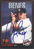 Andy Benes San Diego Padres 1993 Donruss Triple Play Autographed Hand Signed Trading... by Hall+of+Fame+Memorabilia
