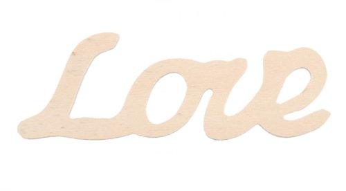 Darice 9110-81 Wood Script Word, Love