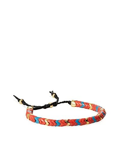 Tai Red with Blue and Gold Zigzag Bracelet