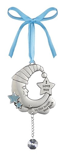 Ganz Welcome Baby Boy, I Love You To The Moon And Back Ornament