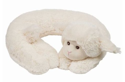 Bearington Bear Lamby White Travel Pillow
