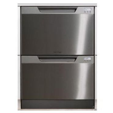 Fisher & Paykel : DD24DCX6 Semi-Integrated Double DishDrawer - Stainless Steel with LCD Display