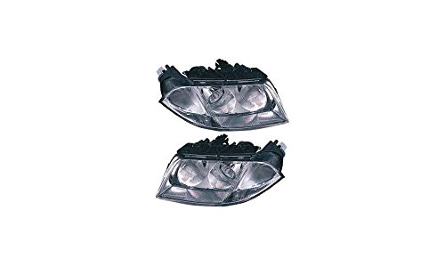 Evan-Fischer EVA13572055216 New Direct Fit Headlight Head Lamp Set of 2 Composite Clear Lens Halogen With Bulb(s) Driver and Passenger Side Replaces Partslink# VW2503118, VW2502118 (01 Vw Passat Headlight Assembly compare prices)