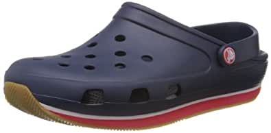 Crocs Crocs Retro, Sabots mixte adulte, Bleu (Navy/Red), EU 36-37, (US M4W6)