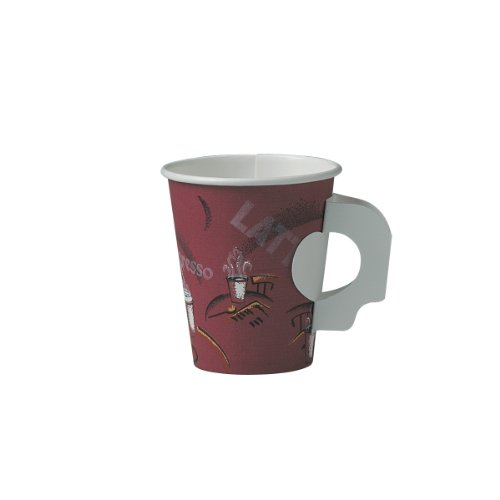 Solo 376Sh-0041 Single Sided Poly Paper Hot Cup, 6 Oz Capacity, Bistro (Case Of 1000)