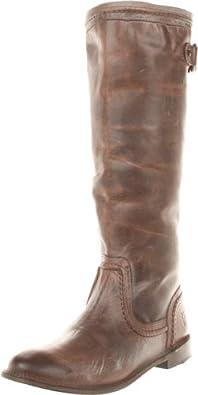 FRYE Women's Paige Trapunto Knee-High Boot,Dark Brown,7 M US