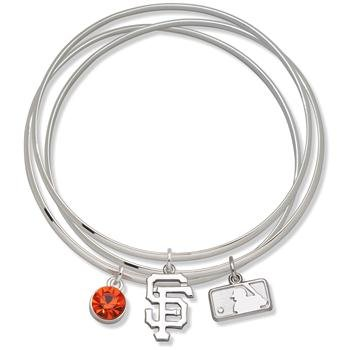 Logo Art San Francisco Giants Ladies Spirit Crystal Bangle Bracelet Set -