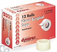 Clear Surgical Tape, 3 x 10 yds 48 Case by DYN