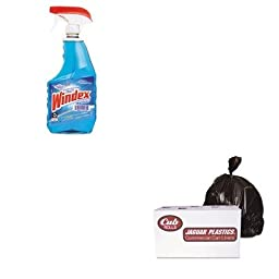 KITDRA90135EAJAGD38634BN - Value Kit - Jaguar Plastics D38634BN Brown Industrial Strength 2.7 Mil Drum Can Liners, 38quot; x 63quot; (JAGD38634BN) and Windex Powerized Glass Cleaner with Ammonia-D (DRA90135EA)