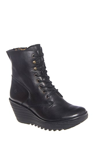 Ygot Mid Wedge Lace-Up Boot