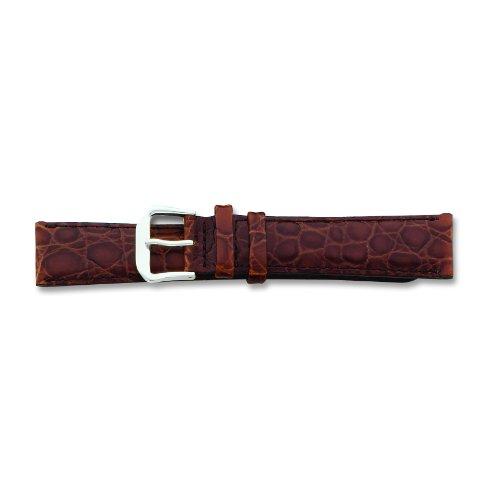 de-beer-brown-alligator-grain-leather-watch-band-19mm-long-silver-color