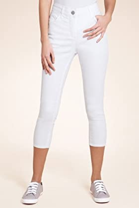 Denim 5 Pocket Cropped Jeggings [T54-8080-S]