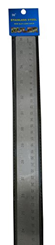 Precision Cork Back Flexible Stainless Steel Ruler, 36