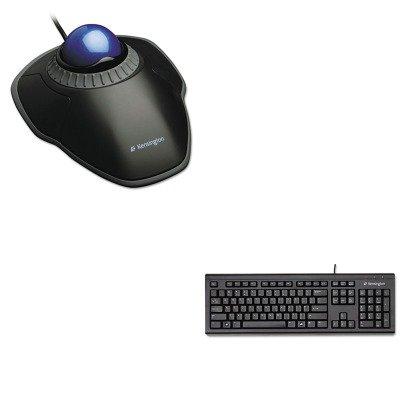 Kitkmw64370Kmw72337 - Value Kit - Kensington Orbit Trackball With Scroll Ring (Kmw72337) And Kensington Keyboard For Life Slim Spill-Safe Keyboard (Kmw64370)