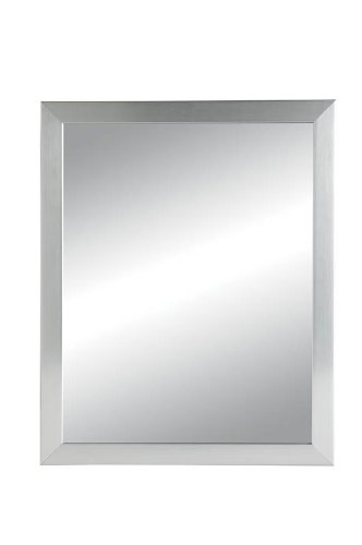 Jensen 781005 Hudson Framed Medicine Cabinet, Satin Chrome, Recessed Mount, 14-Inch By 18-Inch front-328375