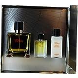 Terre D Hermes By Hermes For Men 3 Piece Set Includes: 2.5 Oz Pure Parfum Spray + 0.42 Oz Pure Parfum Spray + 1.35 Oz Aftershave Balm
