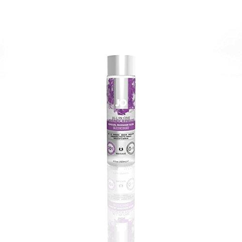 System Jo All in One LAVENDER Massage Oil Personal Lubricant Glide Lavender : Size 4 Fl Oz / 120 Ml. (Massage And Personal Lubricant compare prices)