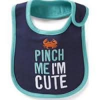Carter's Pinch Me I'm Cute Crab Teething Bib - 1