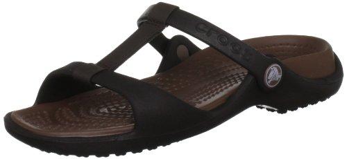 606ac4e611c Discount Crocs Women s Cleo Iii Espresso Bronze Slides Sandal 11216-25M-460  6 UK