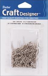 "Bulk Buy: Darice Sequin Pins 500/Pkg-#8 - .5"" Silver (12-Pack)"