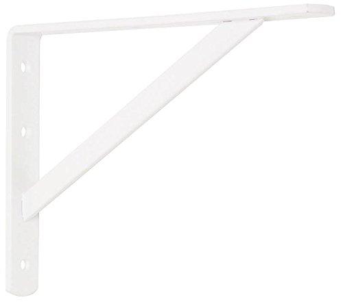 Stanley Hardware 16-by-10-Inch Heavy Duty Shelf Bracket, White #257550 (Stanley Garage Cabinets compare prices)