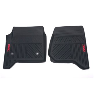 08f35820bd GMC Sierra 1500 Black GM Front Premium All Weather Floor Mats 22858626