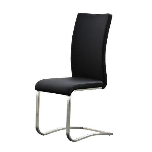 Schwinger-Arco-2er-Set-Gestell-Edelstahl-Bezug-Kunstleder-schwarz-Mae-BHT-ca-43x103x52-cm