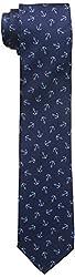Dockers Men's Van Ness Anchors 100% Silk Tie, Navy, One Size