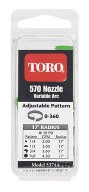 Toro 53744 Adjustable Underground Sprinkler Nozzle 17-Foot Spray