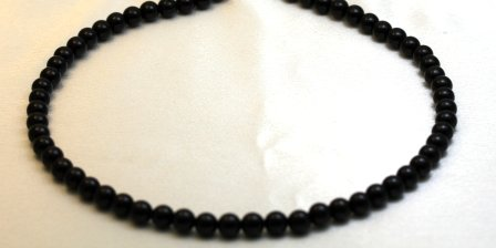 Coral Necklaces 5 mm Black Coral Beads Beaded Necklace 17
