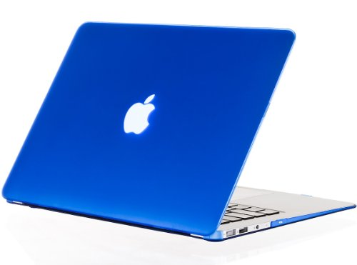Kuzy - AIR 13-inch BLUE Rubberized Hard Case for MacBook Air 13.3