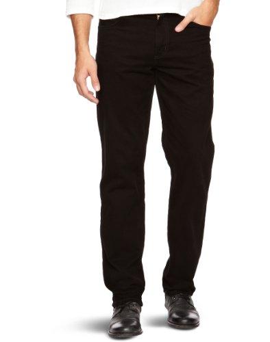 Wrangler Texas Stretch 2% Stretch - Pantalones para hombre, Black 100, W44/L34